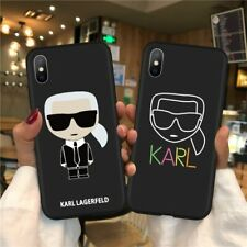 Fashion Karl Lagerfeld Cover Case For iPhone XR X 6 7 8 S Plus 11 Pro Max