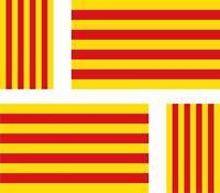 4 x Autocollant sticker voiture moto drapeau catalogne catala