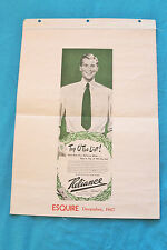 VTG RELIANCE MANUFACTURING CO. TOP O' THE LIST! SHIRTS - CANVAS - ESQUIRE 1947
