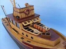 """Fishing Boat Orca JAWS Movie Replica 20"""" Wooden Ship Assembled Nautical Gifts"""