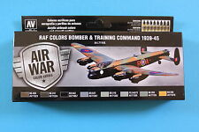 Vallejo Airbrush Model Air Set RAF Colors Bomber & Training Command 1939- 45 (8)