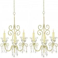 Lot 2 Elegant Chandelier Distressed Candleholder Wedding Hanging Decor