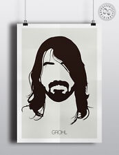 Dave Grohl (Foo Fighters) - Minimalist Poster Silhouette Head Minimal Wall Art