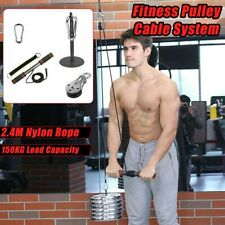 Sport Fitness Pulley Cable System Lifting Machine Triceps Rope Weight Workout US