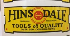 Hinsdale Tools of Quality decal for restoration of vintage tool box 1930's 1940'