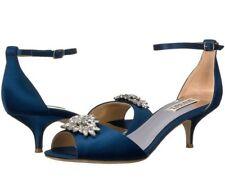 Badgley Mischka Sainte Embellished Evening Shoes Heel Sandals Blue Size 6.5