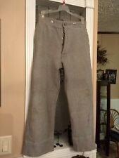Boy's Civil War Confederate pants, metal buttons, ext length in cuffs 4 growth