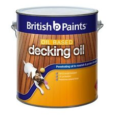 British Paints 1L Oil Based Natural Exterior Decking Oil