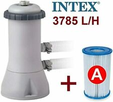 More details for intex 1000 gph filter pump 28638bs 220-240 v cartrid above ground swimming pool