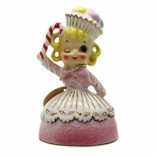 Vintage 1960 Enesco Christmas Candy Winking Cupcake Girl Sweet Shoppe Figurine