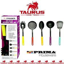 5x Nylon Kitchen Cooking Tool Set Utensils Cutlery Turner Spoon Home UK FREE P&P