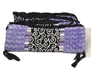 Jojo Designs Purple Minky Reversible Crib Bumper 4 Pcs Baby Girl Nursery