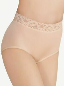 WACOAL  BODYSUEDE LACE WAIST BRIEF #89366  NUDE,  XXL, NWT, MSRP $18
