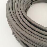 Textilkabel, Stoffkabel, Textilleitung, rund, grau 2x0,75mm² H03VV-F