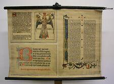 Mural la fresque imprimeur Gutenberg-Bible 85x62 Vintage Wall Chart ~ 1930