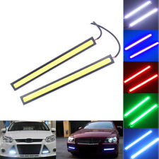 2x 12V 100 LED Strip COB Car DRL Daytime Running Light Bulb Fog Light White