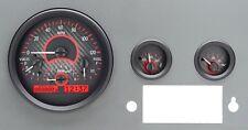 1955-86 JEEP CJ Dakota Digital Carbon Fiber & Red VHX Gauge Dash Kit