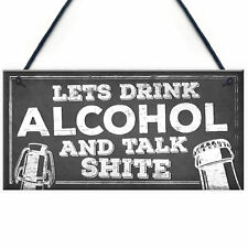 Novelty Funny Alcohol Sign Gin Vodka Beer Gift Friend Man Cave Home Bar Plaque