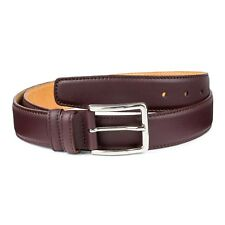 Men's Burgundy Belt 100% Genuine Leather Fashion Casual belts for Man Size 34""