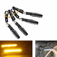 4 pcs Universal Motorcycle LED Turn Signals Indicator Light Warning Lamp Amber