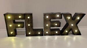 FLEX Marquis Light Letters For Home Gym Or Man Cave