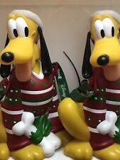 Disney Parks Christmas Pluto Popcorn Bucket Lot of 2 Buckets