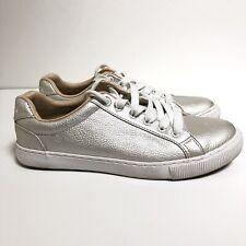 Nautica 7 Steam Sneaker Tumble Silver White Lace-Up Casual Women's