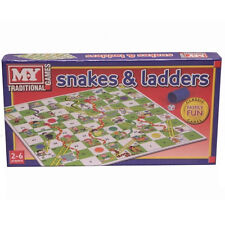 M.Y. Traditional Board Game Snakes and Ladders 35.5 cm x 35.5 cm #TY57