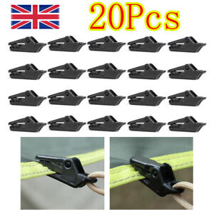 20X Tarp Tarpauline Awning Clips Tie Down Clamp Bushcraft Camping Survival Set