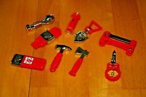 Vintage Playskool Cool Tools Set of 9 Adventure Tools-Used