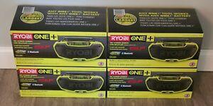 RYOBI ONE+ P746 18V Hybrid Stereo Radio Dual Power Bluetooth - (Radio Only) NEW