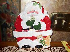 Fitz & Floyd Classics Santa Hand Painted Santa Canape Plate Dish Wall Hanging