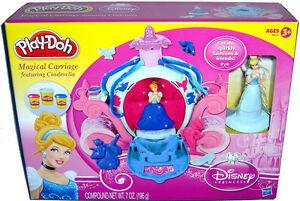 Disney Princess Play Doh Magical Carriage Playset MIB W/ Cinderella Figure Toy