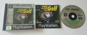 PGA EUROPEAN TOUR GOLF PS1 PS2 PS3 PLAYSTATION GAME SPORT GAME - COMPLETE
