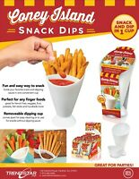 Coney Island Snack Dips - Set of 2 - Snack and Dip in One Cup, As Seen On TV