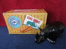 "Avon Big game Rhino Decanter 5 3/4"" Long & 3"" Tall Empty Fs"