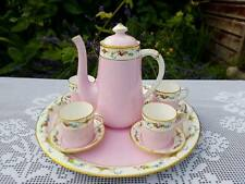 Shelley Pink Enamelled pattern 8982 Cabaret coffee set