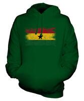 GHANA DISTRESSED FLAG UNISEX HOODIE TOP GHANAIAN  FOOTBALL JERSEY GIFT