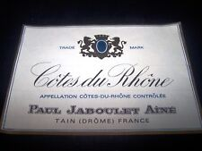 etiquette vin magnum Paul Jaboulet ainé côtes du rhone wine label tain drome