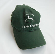 JOHN DEERE Logo Baseball Farmer Cap 100% Cotton Green