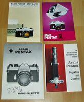 ASAHI Pentax 1969 4 Werbefolder Preisliste Fotografie Kameras alt