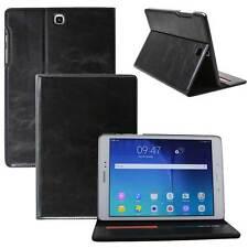 LUXURY Custodia Protettiva in Pelle per Samsung Tab s2 TABLET CUSTODIA COVER CASE NERA