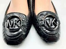 ORIGINAL Michael Kors Lillie Moccasin Flat Shoes Black Leather Size 8