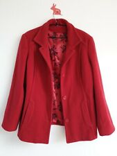 KLASS Size 16 Red Wool Blend Coat