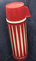 Vintage Thermos * Graphic Red & Ivory * Universal Thermos Landers, Friary, Clark