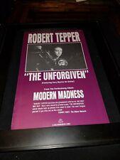 Robert Tepper The Unforgiven Rare Original Radio Promo Poster Ad Framed!