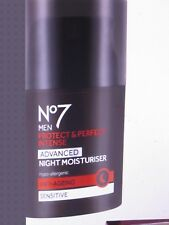 No7 Men Protect & Perfect Intense ADVANCED Night Moisturiser SPF15 Anti Ageing