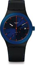 New Swatch Originals Sistem51 Sistem Notte Blue Black Swiss Quartz Watch SUTB403