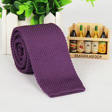 NEW Fashion Men's  Necktie Solid Woven Tie Knit Knitted Tie Narrow Slim Skinny