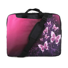 "TaylorHe 15.6"" Laptop Shoulder Bag With Handles Strap Pink Butterflies"